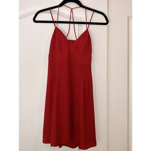 Express Strappy Back Red Mini Dress, Size 0